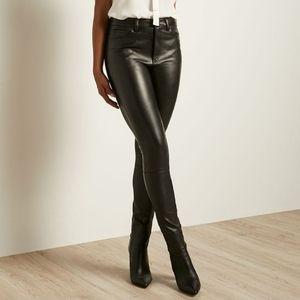 RW&Co Faux Leather Pants Leggings Skinny High Rise